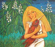 Сашо Камбуров - Момиче с птица